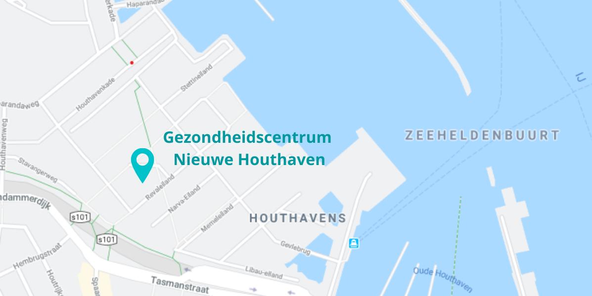 Locatie gezondheidscentrum Nieuwe Houthaven